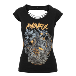 Owl Girl ladies back cut t shirt