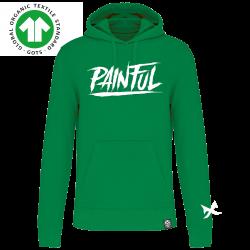 trash logo red hoodie