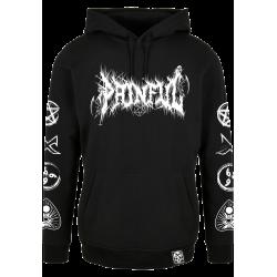 trash logo hoodie